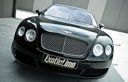 Black Bentley Continental Flying Spur Limo