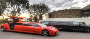 Red Ferrari Limo
