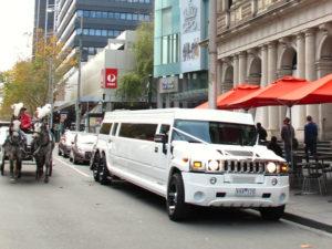 Hummer Parked on Street