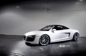 Audi R8 White Spyder Convertible