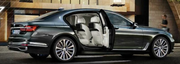 BMW 7 Series Black Sedan