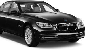BMW 7 Series Black Sedan