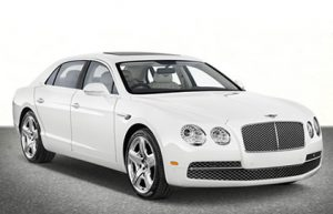 White Bentley Flying Spur Sedan