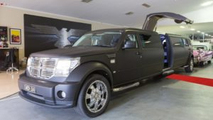 Black Dodge Nitro SUV Limo