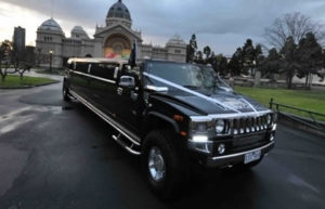Black Hummer with 3 Bars Spread Throughout the Spacious Cabin