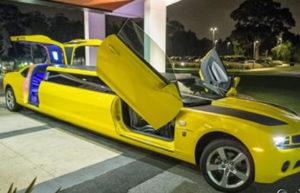 Chevy Camaro Transformers Bumblebee Limo