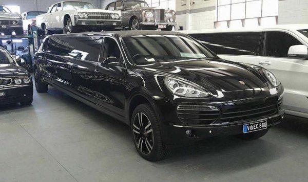 Black Porsche Cayenne Stretch Limo