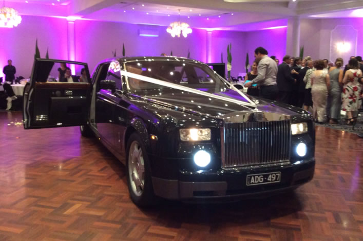 Rolls Royce Phantom Black Limo Melbourne
