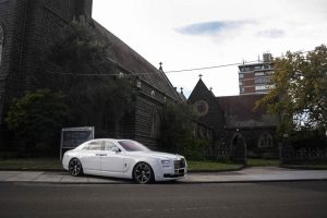 White Rolls Ghost Royce for Hire