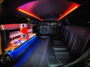 Ferrari Supercar Stretch Limousine Interior for 8 Passengers