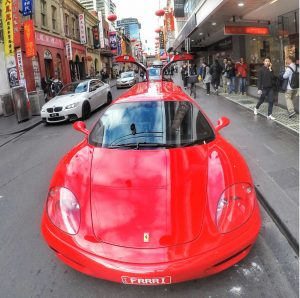 Ferrari in Chinatown