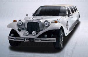 10 Passenger White Excalibur Stretch Limousine