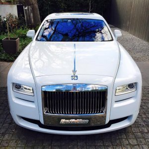 White Rolls Ghost Royce Exotic Limo