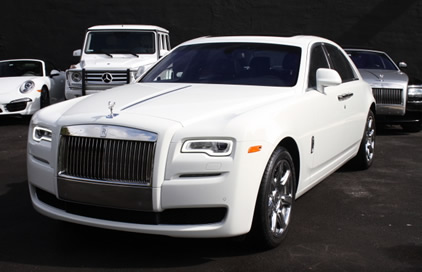 2014 White Rolls Royce Ghost