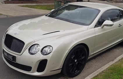 Cream Bentley GT