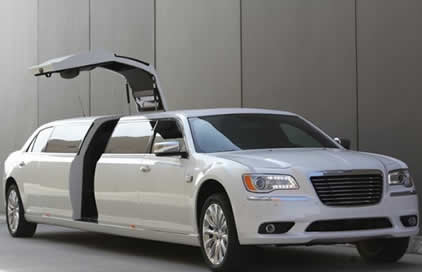White Chrysler 300c Jet Limo